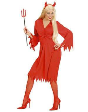 Duivel van het vuur kostuum voor vrouw