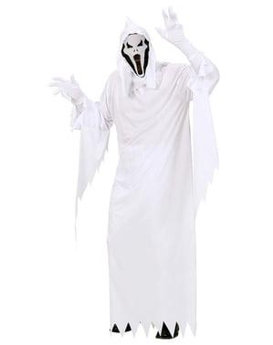 Fato de fantasma despiedado para homem