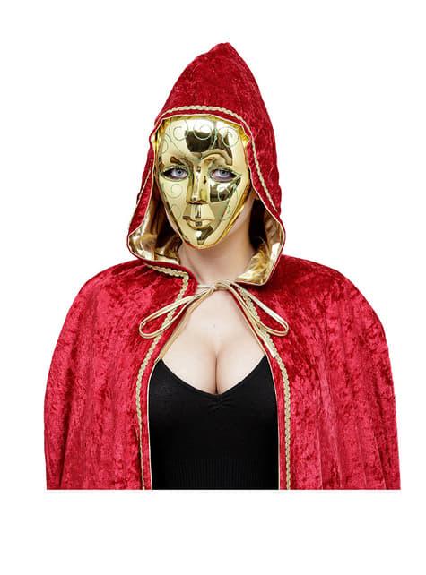 Máscara dorada con glitter verde - para tu disfraz