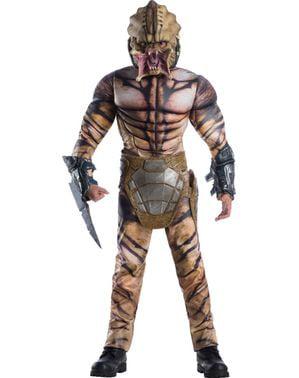 Predator deluxe maskeraddräkt för ungdom