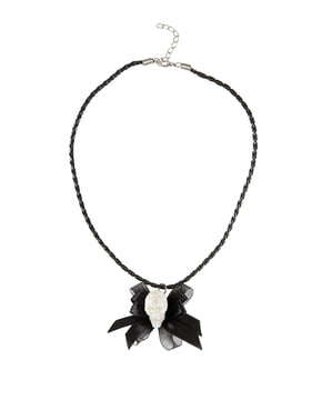 Necklace with Skeleton Bow