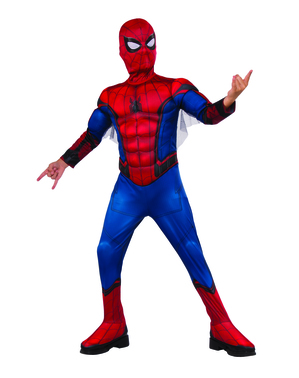 男の子のためのスパイダーマン帰郷デラックスコスチューム