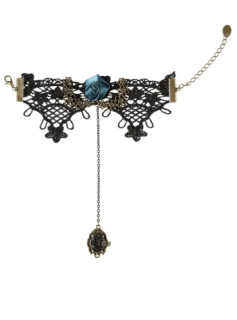 Bransoletka gotycka z pierścionkiem