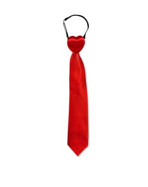 Cravate rouge brise-coeurs