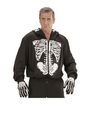 Costume da scheletro mortale con cappuccio
