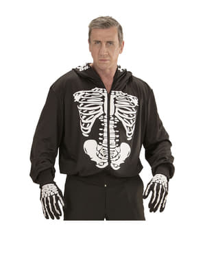 Déguisement de squelette mortel à capuche