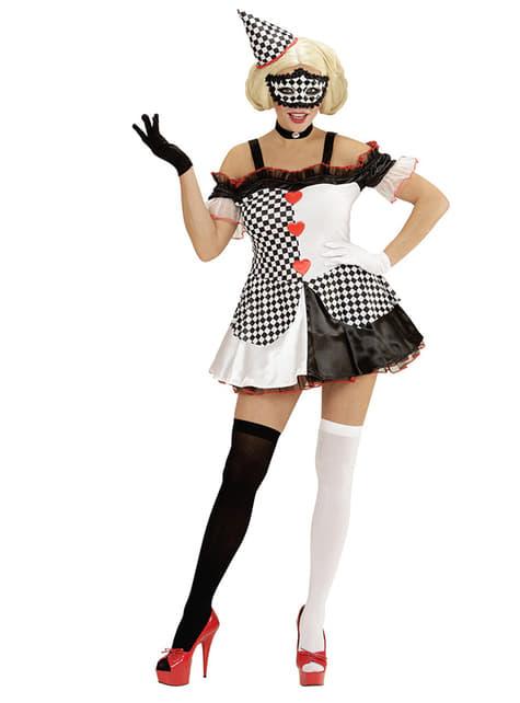 Disfraz de arlequina dominó para mujer