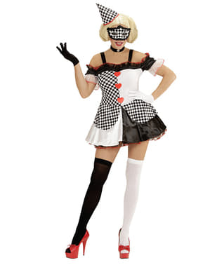 Domino Harlekinin Kostüm für Damen