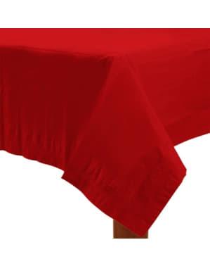 Röd bordsduk