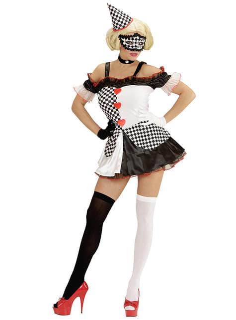 Womens Domino Harlequin Costume