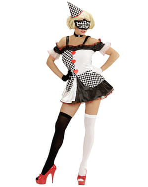 Womens Domino Harlequin Costume