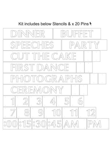 Plantilla para palabras - Hearts & Krafts - para tus fiestas