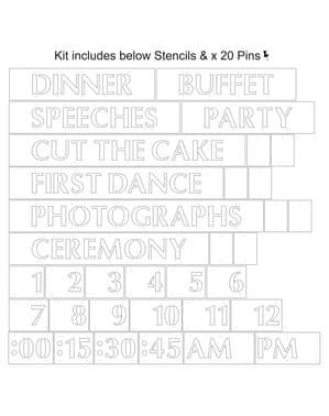 Mascherine per stencil con parole - Hearts & Krafts