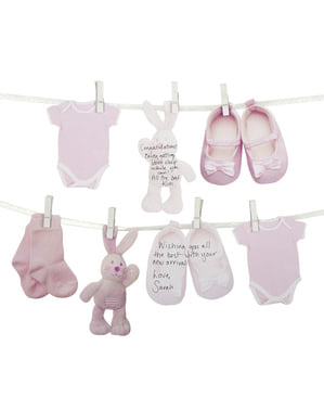 Roze gastenboek alternatief voor Baby Shower - Patroon Werken