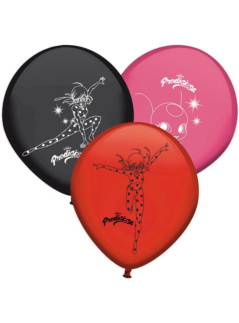 Conjunto de 8 balões de Ladybug cores variadas