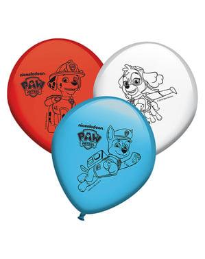 8 Paw Patrol Balloons मिश्रित रंगों का सेट