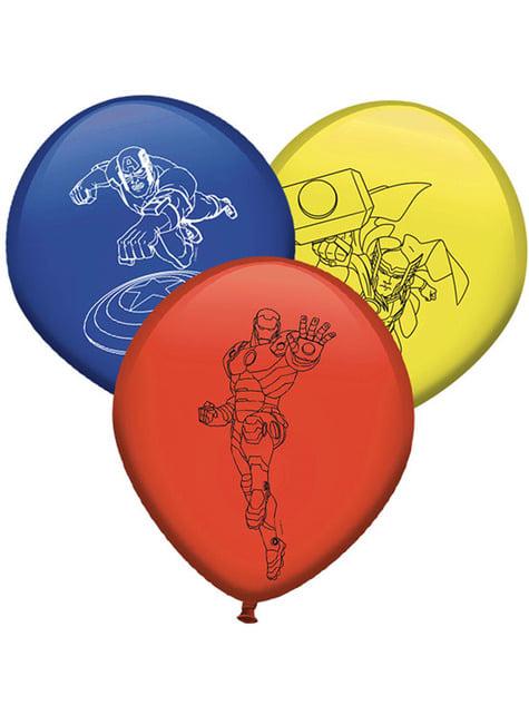 8 globos de Los Vengadores colores variados (30cm) - Mighty Avengers