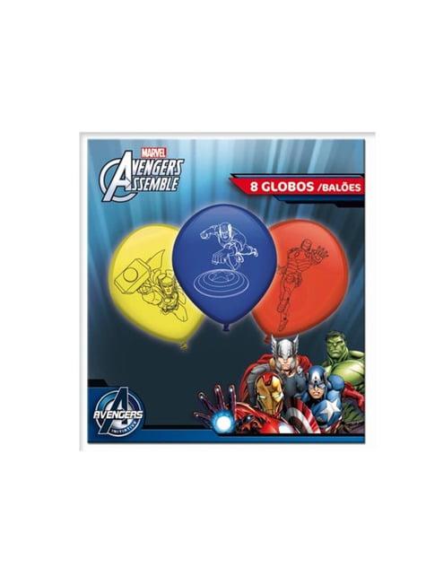 8 globos de Los Vengadores colores variados (30cm) - Mighty Avengers - para tus fiestas