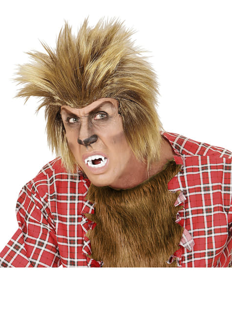 Mens Blond Werewolf Wig