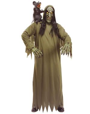 Ontchoogelde heks kostuum voor volwassenen