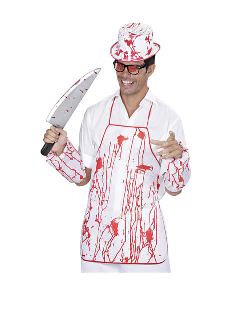 Kit disfraz de asesino carnicero ensangrentado