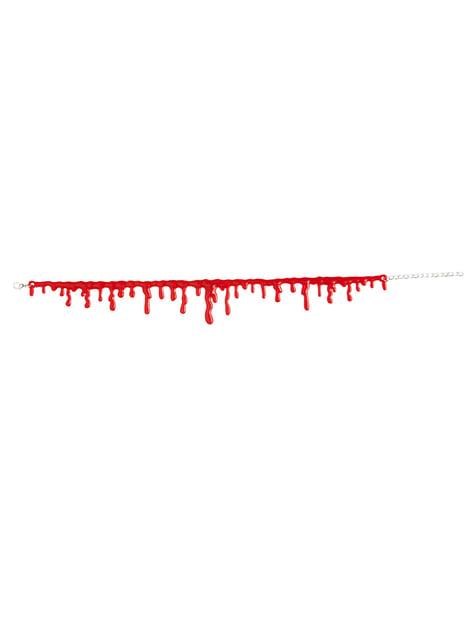 Collar de sangre gota a gota