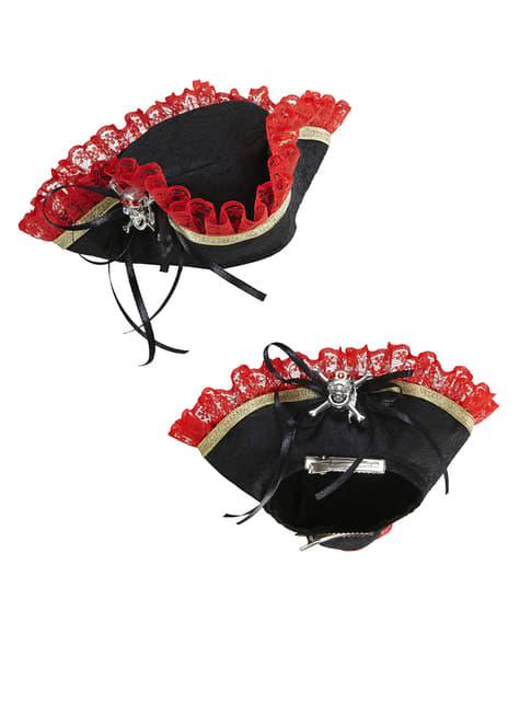Mini kapelusz pirata z czaszką