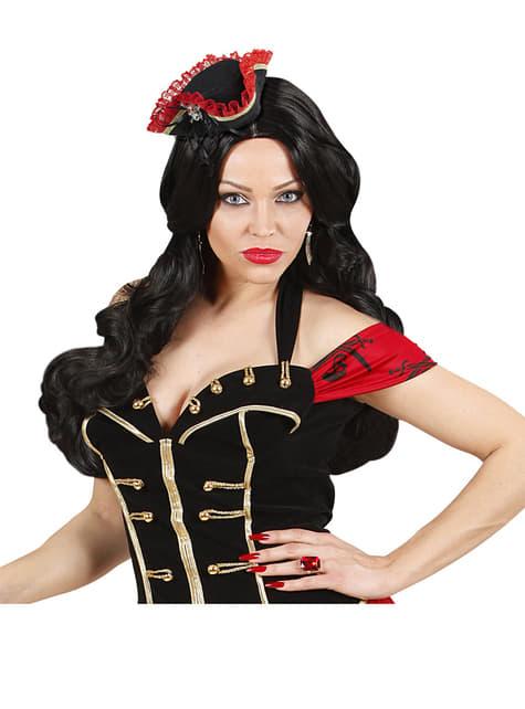 Mini tricornio pirata con calavera - para tu disfraz