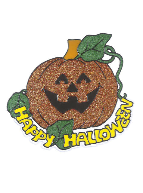 Naklejka dynia Happy Halloween