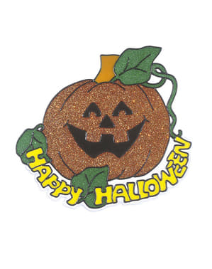 Happy Halloween græskarklistermærke
