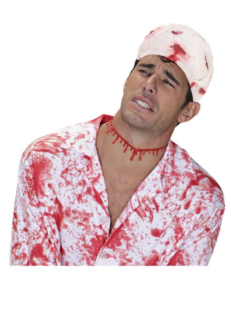 Bandaż medyczny zakrwawiony