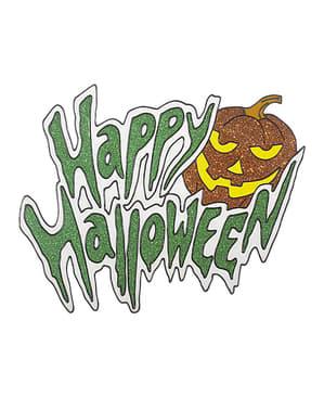 Autocollant pour fenêtre Happy Halloween