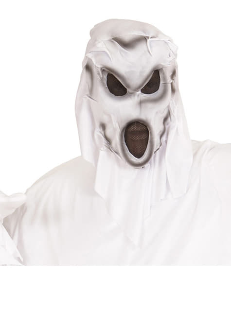 Máscara de fantasma con capucha