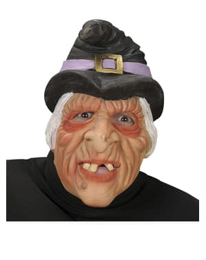 Máscara de bruxa meia cara