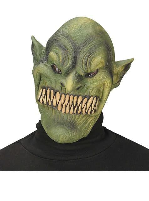 Máscara de duende verde endemoniado