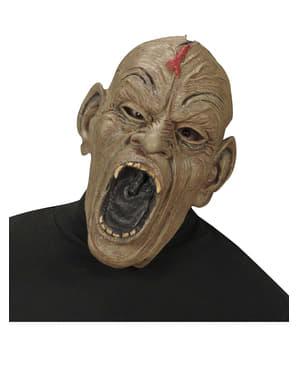 Máscara de zombie agresivo