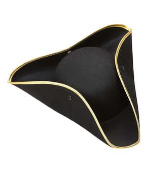 Zwarte hoed met opgeslagen randen