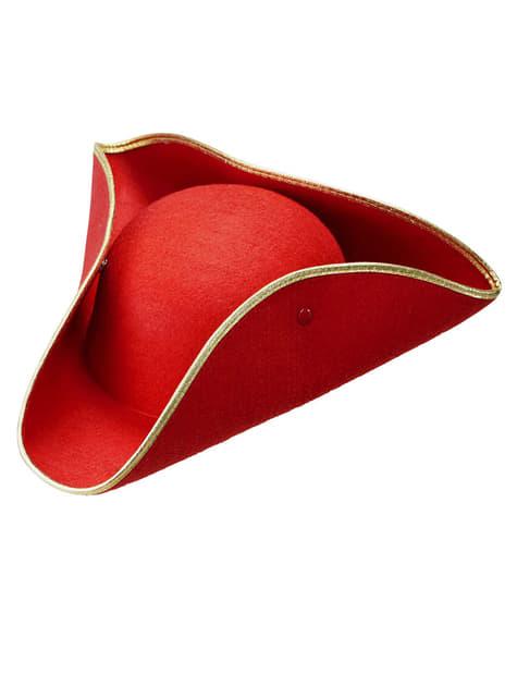 Red Tricorn Hat