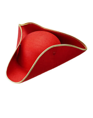 Red Tricorn Hat