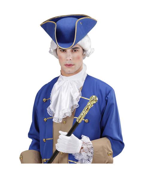 Tricornio azul - para tu disfraz