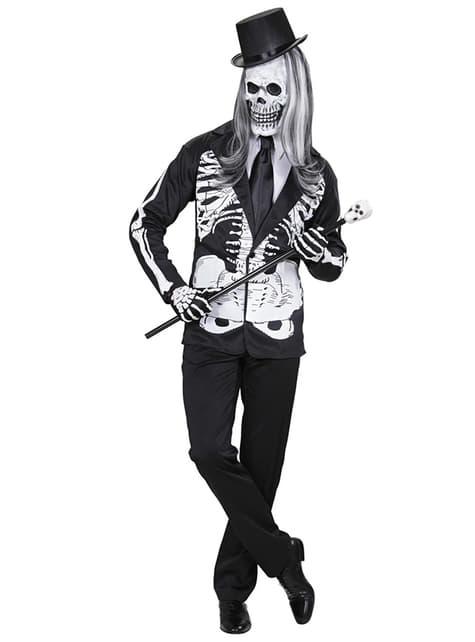 Disfraz de señor esqueleto para hombre - hombre