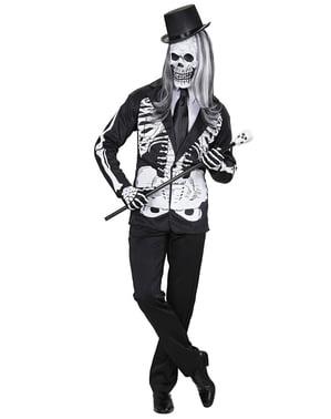 Mr Skjelett Kostyme Mann