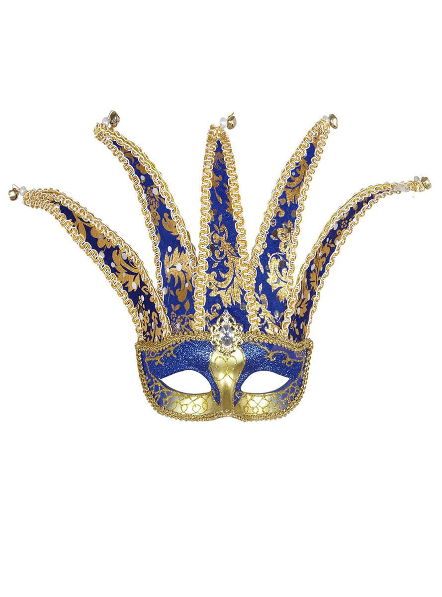 Venetian Jester Masquerade Mask. The coolest | Funidelia