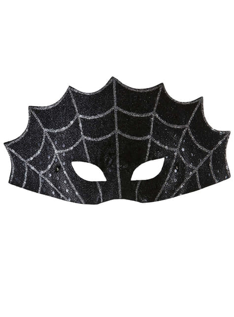 Black eye mask spider web