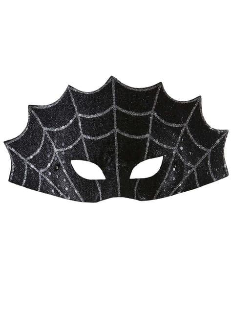 ブラックアイマスククモの巣