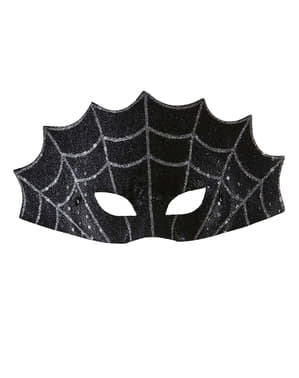 Black eye mask spider web