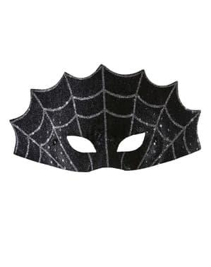 Zwart oogmasker spinnenweb