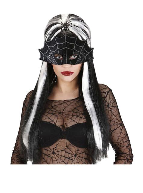 Maska czarna pajęczyna