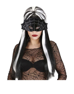 Maschera da ragnatela nera