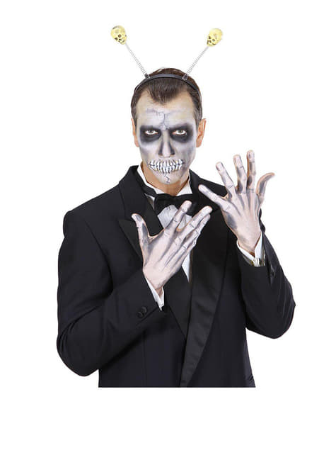 Opaska z czułkami czaszkami